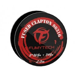 Fused Clapton Wire SS316 26x2+34GA - 5M